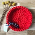 LARGE | crochet baskets | essential oil storage | RED