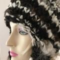 Handspun , handknit, Australian mixed natural wool earflap hat men women