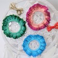 Set of 3 'Ombre' Lacy Hair Bands/Scrunchies