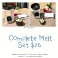 Complete Wax Melt Set / Wooden Melt Burner Set