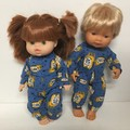Miniland and Minikane Dolls Onesie/ Sleeper to fit 38cm dolls