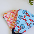 Kid 3 layers  Polka Dots Fabric Face Cover For kid 6 - 12 years old