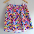 Freya Skirt in Rainbows by Ellie Whittaker for Friday Loves Fabrics - MTO