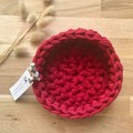 LARGE | crochet baskets | essential oil storage | CRIMSON
