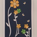 Greeting Card - 'Flowers on Stems'