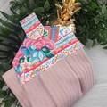 Neon Hawaii Fabric Hand Towel - Coloured Print
