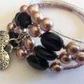 memory wire bracelet mixed love beads assorted colours mixed randomly bracelets
