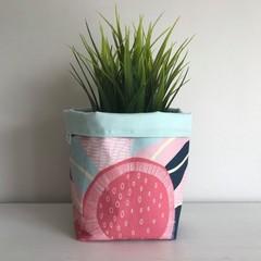 Small fabric planter | Storage basket | GUM BLOSSOM