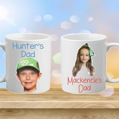 Personalised Father's Day, Name, Photo,Coffee or Tea Mug