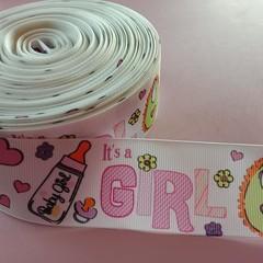 """1 1/2"""" baby girl grosgrain ribbon"""