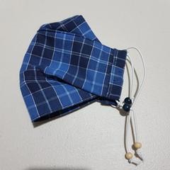 Face mask - Blue tartan