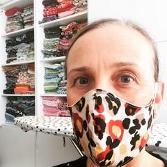 Cotton Face Mask ~ Animal Print ~ 3 layers