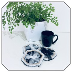 2 Pce Fabric Coaster Set