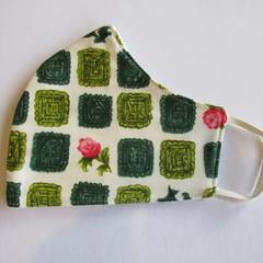 100% Cotton Face Mask - Rose Garden