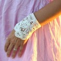 vintage  lace cuff,  boho bracelet on Sale