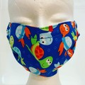 COTTON FACE MASK - 3 LAYERS - BREATHABLE & WASHABLE -  Child size 8-12