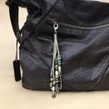 Natural & green bag charms - Lanyard - Key ring - Boho style - Wooden beads