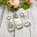 Personalised Bottle Opener Keyring, Photo, name