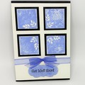 Get Well Card - Cream and Blue 4 squares
