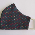 100% Cotton Face Mask - Navy Square