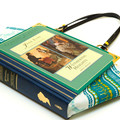 Jane Eyre and Wuthering Heights book bag - Bronte sisters - Bag made from a book