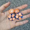 Bold Orange Earrings