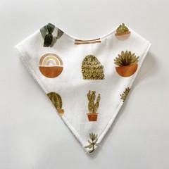 Boho succulent bandana bib