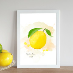 'You're the Zest' Watercolour Digital Painting, Instant Download Printable