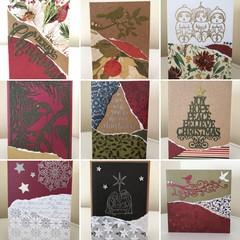 Assorted Christmas card bundle - 7 cards