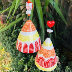 Garden bell/ wind chime SET of 2