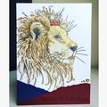 Proud lion card