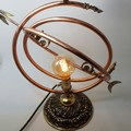 Astronomical Inspired Steampunk Lamp . Free Shipping