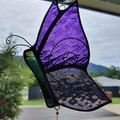 Purple Stained Glass Butterfly