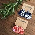 Ceramic printed earrings