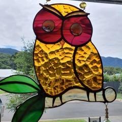 Cute owl suncatcher