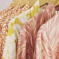 Over sized Kimono Jacket - M size 10 -12 - Burnt orange w. White Cockatoo