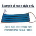 Unembellished Purple - Pleated Face Mask