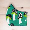 Green Toadstools Fabric Mask