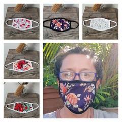 Handmade Face Mask- Reusable- Washable- 3 layered fabric- Australiana prints.