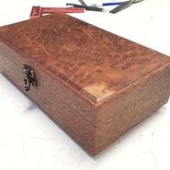 Valet | Jewellery | Keepsake | Wood Box From Rosewood And Coolibah Burl