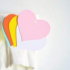 Pastel Heart Tags {25} Large Blank Mix Colours | Heart Labels | Children Party