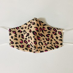 READY TO POST 3 layer Mask Leopard Face Cover Reusable Cloth Mask