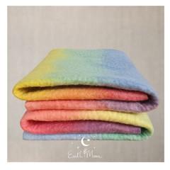 Hand Crafted ORGANIC Large Pastel Rainbow Felt Sheets