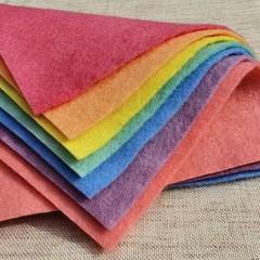 7 Sheet Set   Hand Dyed Australian Wool Felt   Over the Rainbow Collection