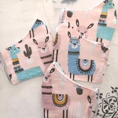 Reusable Fabric Face Mask - Llamas  K