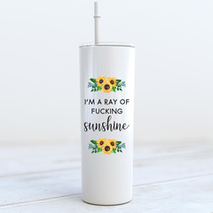 Just A Little Moody Stainless Steel Skinny Tumbler with Straw - SKT005