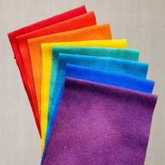 Individual Colours Hand Dyed Australian Wool Felt   Full Moon Collection