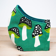 Green Toadstools Fabric Mask