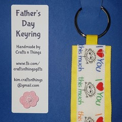 Father's day keyring - Love you this much!