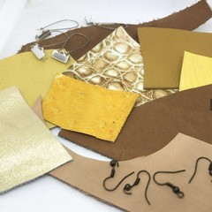 Make Your Own Leather earrings KIT